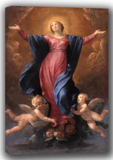 Reni, Guido: The Assumption of the Virgin Mary. Fine Art Canvas. Sizes: A4/A3/A2/A1 (002099)